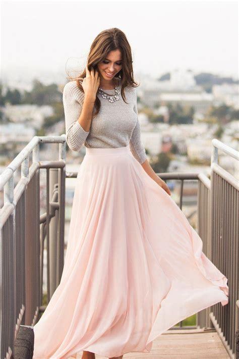 Amelia Full Pink Maxi Skirt Morning Lavender