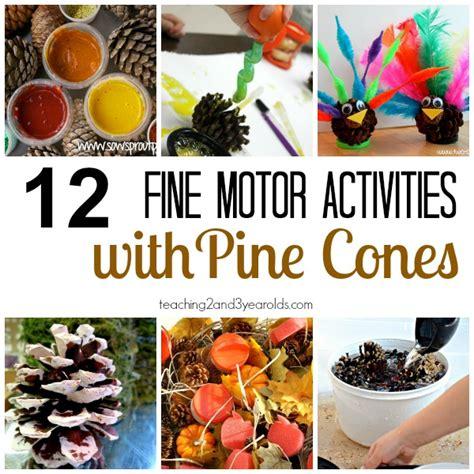 fall motor activities for preschoolers 963 | fine motor activities with pine cones