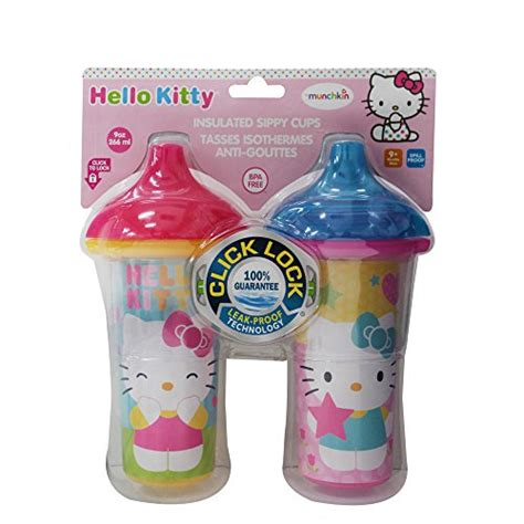 munchkin hello click lock 2 count insulated sippy cup 9 ounce 735282152832