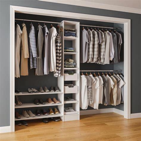 Reach In Closet Organizer by Melamine Closet Dandk Organizer
