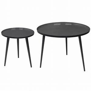 Table Basse Noire Ronde : table basse ronde style vintage jelva broste copenhagen ~ Teatrodelosmanantiales.com Idées de Décoration