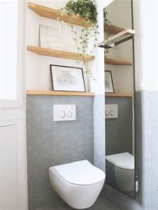 photos et idees deco de wc et toilettes avec un carrelage gris With quelle couleur pour les toilettes 5 carrelage toilette murale