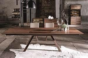 Table En Noyer : table noyer table repas en noyer spirit luxe et design ~ Teatrodelosmanantiales.com Idées de Décoration