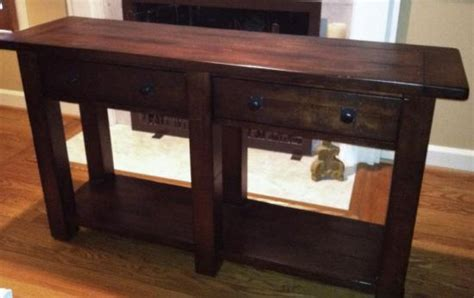 New Pottery Barn Benchwright Wood Console Table Rustic