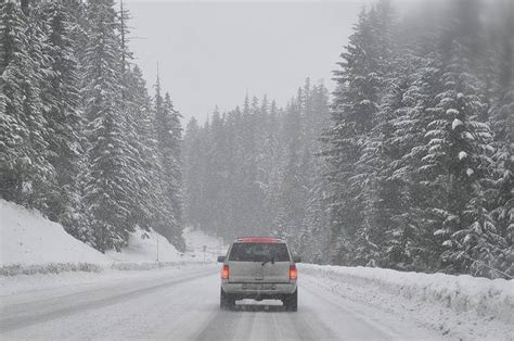 driving cars snow road snowy conditions