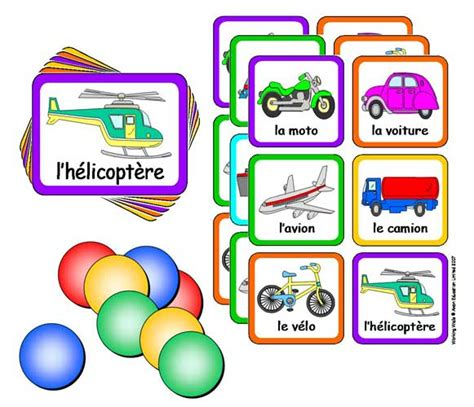 French Lotto Game With Flashcards  Transport  Little Linguist