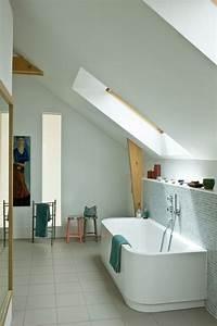 salle de bain sous combles 5 exemples bien amenages With salle de bain sous combles