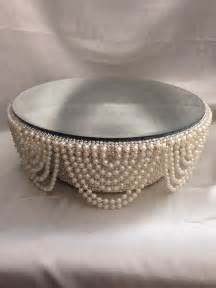 cheap wedding plates pearl and crystals drape design wedding cake stand