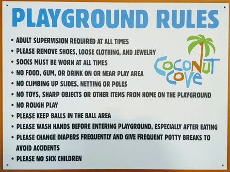 playground rules for preschoolers playground coconut cove 131