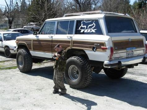 classic jeep wagoneer lifted 1988 jeep grand wagoneer 360 ci 6 quot suspension lift cut