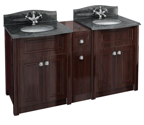 burlington two mahogany vanity unit and joining unit with