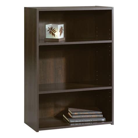 Sauder Beginnings 3 Shelf Wood Bookcase, Cinnamon Cherry