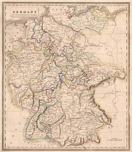 GERMANY IN CONFEDERATE STATES. Rivers. Bavaria Hanover &c ...