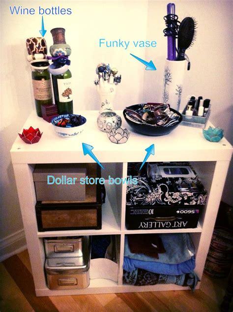 bedroom diy organization  recycled  dollar store