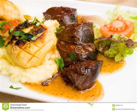 cuisine noir cuisine boudin noir on table royalty free stock photo