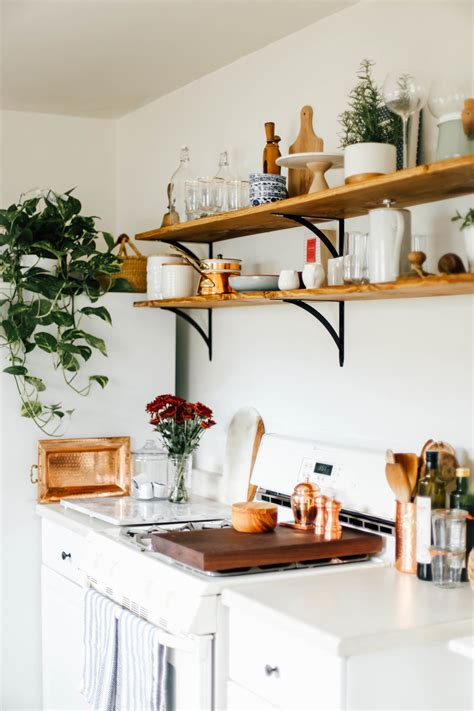 open kitchen shelves    college housewife