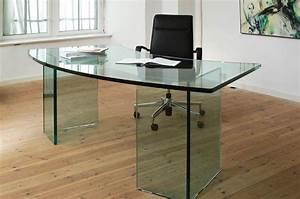 Schreibtisch Aus Glas : schreibtisch komplett aus glas glasdicke 19mm oder 25mm mit ~ Markanthonyermac.com Haus und Dekorationen