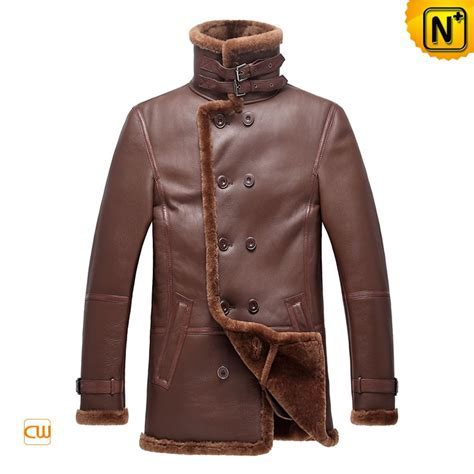 Double Breasted Mens Shearling Coats CW878236