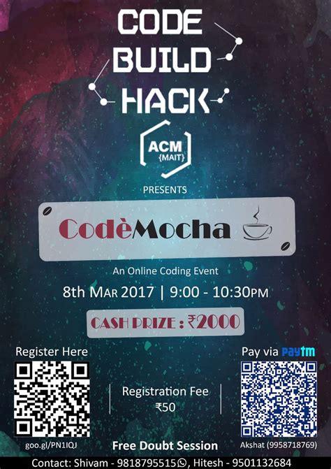 acm mait chapter organizing coding competition codemocha