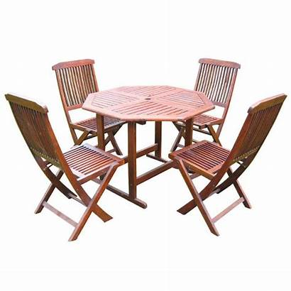 Chairs Table Folding Wooden Away Stow Dining