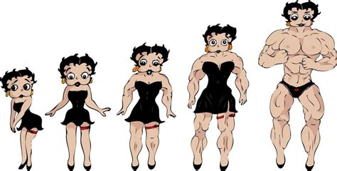 Betty Boop Muscle Growth Sequence By Kimenguman On Deviantart