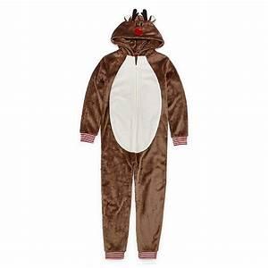 North, Pole, Trading, Co, Reindeer, Family, Unisex, Fleece, One, Piece, Pajama, Long, Sleeve, Color