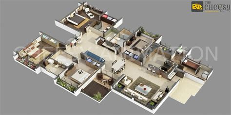 3d Floor Plans For House And Bedroom