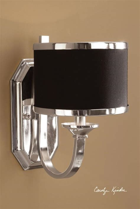 Single Light Bathroom Wall Sconce by Uttermost Silver Plated Single Light Wall Sconce From The