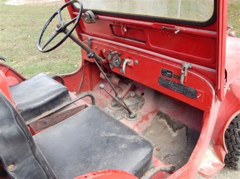 1949 Willys CJ3A Fire Engine Jeep. Boyer Conversion. Very