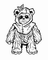 Coloring Ewok Adult Ewoks Star Wars Fine Line Clipart Clip Drawings Sheets Clock Luxury Tattoo Arts Library Luke Leia sketch template