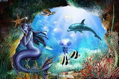 Underwater Fantasy Animated Mobile9 Mermaid Cool Desktop