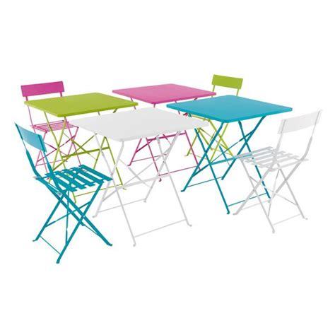 table et chaise de jardin carrefour table de jardin ronde pliante