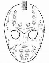 Jason Coloring Mask Pages 13th Friday Halloween Printable Masks Template Sheets Scary Tattoo Printables Face Drawings Drawing Supercoloring Voorhees Colouring sketch template