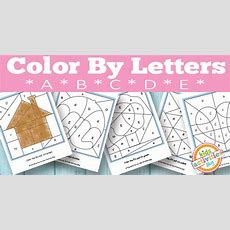 Color By Letters A, B, C, D, E {free Kids Printable}