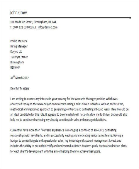 account manager cover letter studyclix web fc2 account