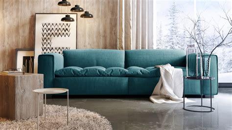 canapé grande assise canapé design 3 places avec assise tissu matelassée storra