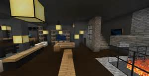 top minecraft modern living room wallpapers