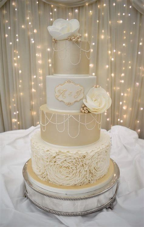 champagne wedding cakes ideas  pinterest