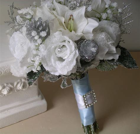 Southern Blue Celebrations Silver And Gray Wedding Bouquets