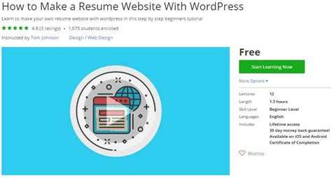 Make A Resume Website by Udemy Coupon How To Make A Resume Website With