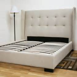 diy platform bed with upholstered headboard quick
