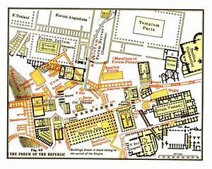 Map Of The Roman Forum  Illustration