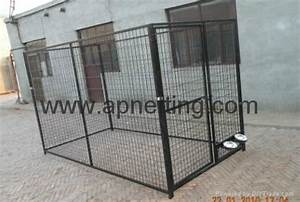 factory galvanized welded wire modular heavy duty kennel With metal dog kennel and run