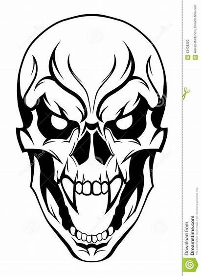 Skull Evil Drawings Drawing Skulls Tattoo Designs
