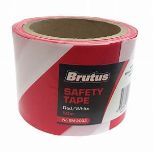 Brutus 75mm x 50m Red And White Safety Tape | Bunnings ...