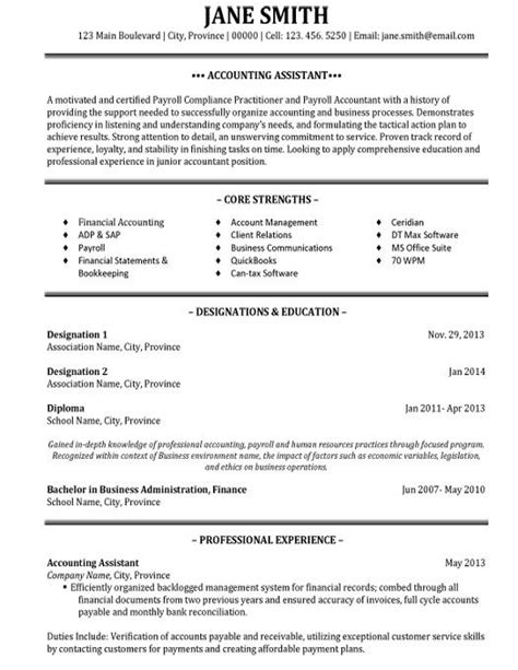 accounting resume samples resume cv template examples