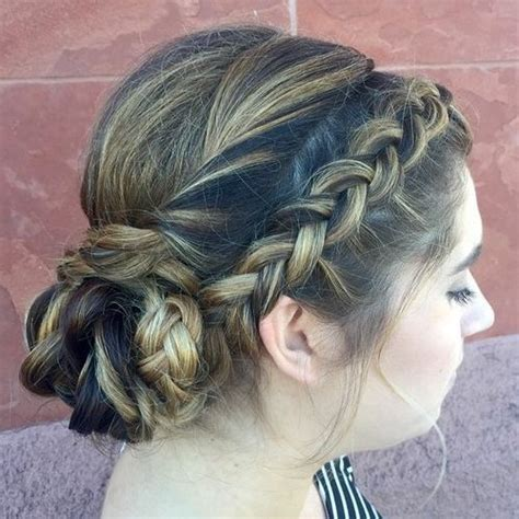 Braided Side Bun Hairstyles by 40 And Comfortable Braided Headband Hairstyles