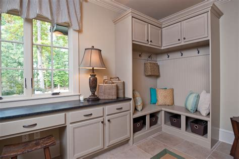 laundry room corner cabinet corner mudroom bench entry contemporary with built in