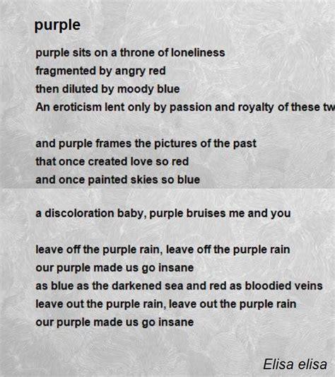 purple poem  elisa elisa poem hunter