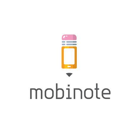 Sold  Mobinote—mobile Phone Pencil Logo Design  Logo Cowboy